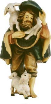 ECH - Hirte stehend mit Schaf 11cm color