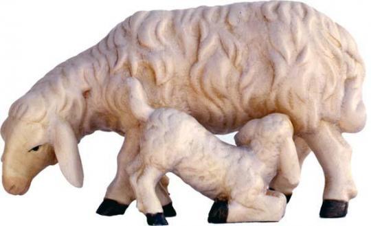 ECH - Schaf mit Lamm saugend 11cm color