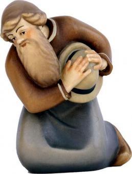Modern Hirte knieend mit Hut 11cm color