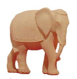 Modern Elefant 15cm natur