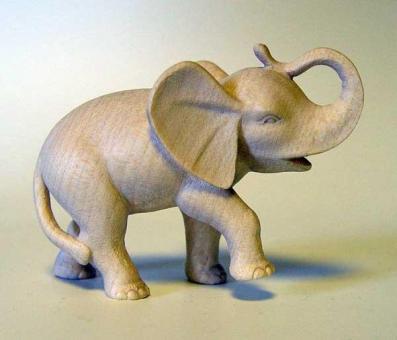 Modern Elefantenjunges 11cm natur