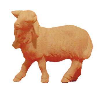 Modern Schaf mit Glocke 15cm natur