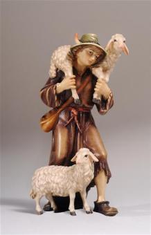 Kostner Hirt mit 2 Schafen